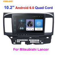 FEELDO 10.2 Android 8.1 Quad Cord Car GPS stereo player For Mitsubishi Lancer EX navi browser radio Headunit navi 1024*600