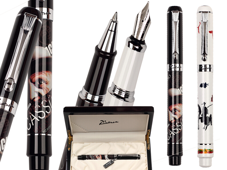 Gel RollerBall pen Or Fountain Pen M Nib  Picasso 929 the best gifts school and office stationery Free Shipping 8pcs lot wholesale fountain pen black m 14 k solid gold nib or rollerball pen picasso 89 big executive stationery free shipping