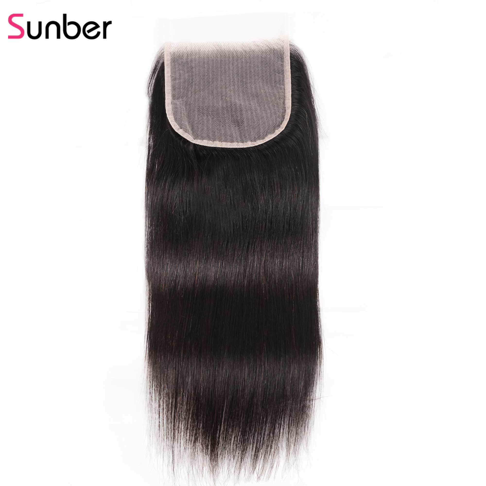 Sunber Hair Straight 5X5 Preuvian Transparent Lace Closure Hair Extension 8-18 inch 100% Human Remy Hair HD Closure(China)
