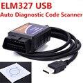 Frete Grátis Atacado OBD/Scanner OBDII ELM 327 Carro Interface de Diagnóstico Ferramenta de Verificação ELM327 USB Suporta todos os Protocolos OBD-II