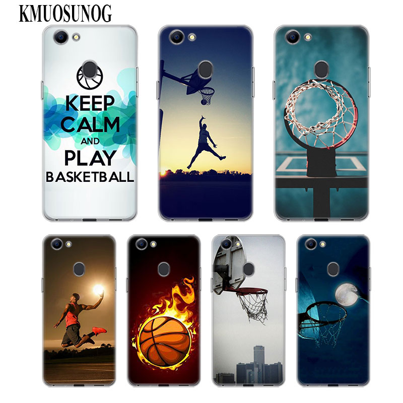 Transparent Soft Silicone Phone Case I Love Basketball for OPPO F5 F7 F9 A5 A7 R9S R15 R17 Cover