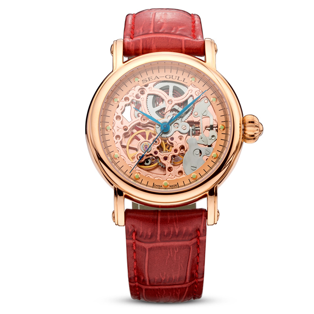 leisure automatic mechanical genuine leather waterproof watch with rome digital business for various occasions 816 241 Leisure Automatic Mechanical Genuine Leather Waterproof Watch with Rome Digital Business for Various Occasions M182SGK