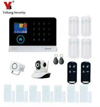 YobangSecurity Wireless Wifi RFID Gsm Home Security Alarm System Kit with Indoor IP Camera Wired Siren PIR Motion Door Sensor