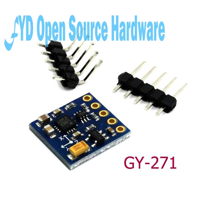 US $4 04 5% OFF|WYHP GY 271 HMC5883L 3 Axis Compass Magnetometer Sensor  Module 3V 5V-in Sensors from Electronic Components & Supplies on