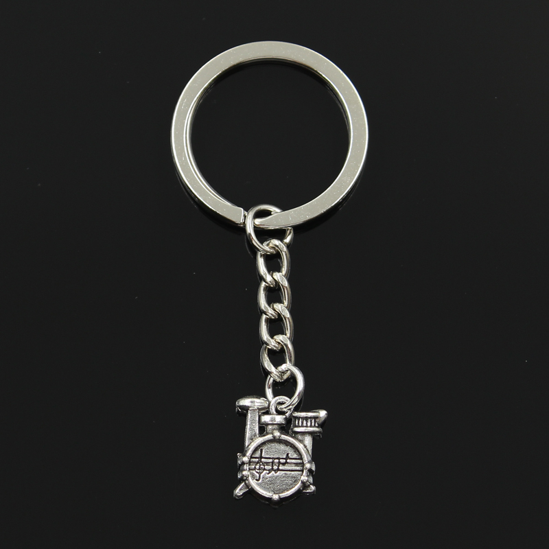 New Fashion Keychain 16x14x4mm Drum Set Stopwatch Pendants DIY Men Jewelry Car Key Chain Ring Holder Souvenir For Gift