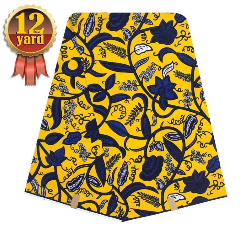 pagne africain super cotton wax hollandais solde ankara fabric african real wax print textile ...