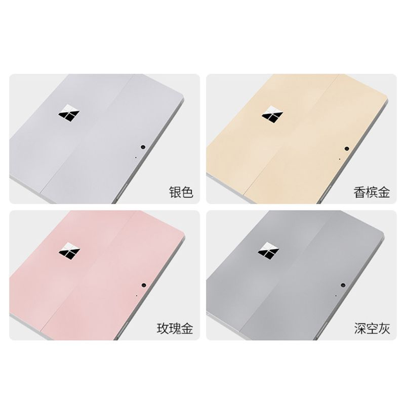 Gray Tablet Decals Screen Protector Tablet Decal Back Cover For Surface Go Wrap Protect Skin Sticker For Microsoft Surface Go