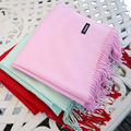 2016 Новый дизайн высокого качества женщины кисточкой твердые scaves шаль плюс длина wrap feminino