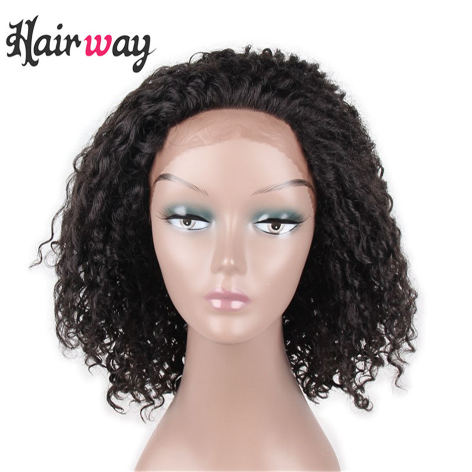 Hair Way 14Inchs Kinky Curly Fiber Afro American Wigs For Black Women Heat  Resistant Synthetic Lace Front Wigs With Baby Hair c2bb456492