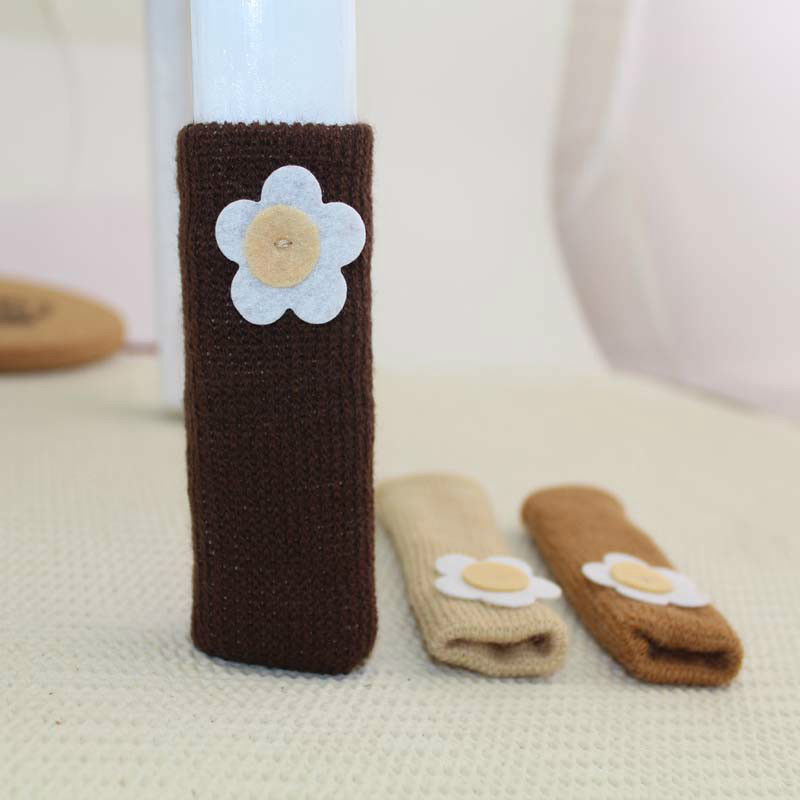 Table Chair Cabinet Leg Cover Table Foot Floor Protectors Floor Protection Pad Knitting Lovely Mute Wear-Resistant