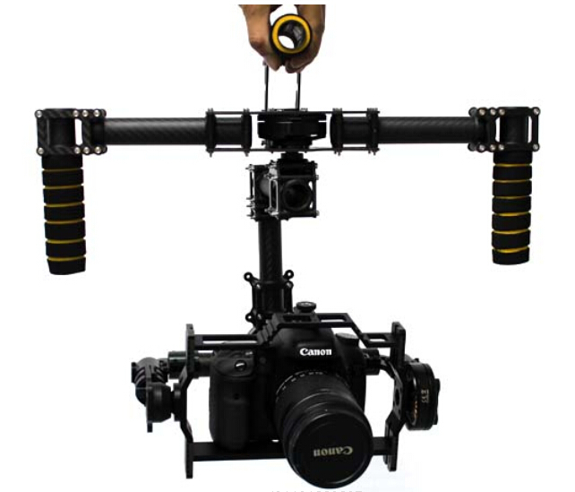 Handheld 3-Axis Camera Brushless Gimbal for Canon 5D 5D2 / MSLR Kit W/ 3 x Motors цена