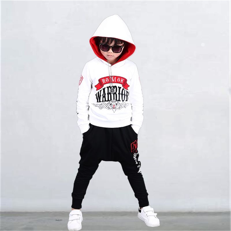 Children Clothes set Hoodies+Pants Boys Long Sleeve Sweatshirt outfits Fashion kids hoodies 10 12 years Autumn roupa menino stylish long sleeve letter print tassel design sweatshirt pants twinset for boys