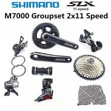 Shimano deore slx m7000 그룹 세트 26 36 t 28 38 t 크랭크 셋 마운틴 바이크 그룹 세트 2x11 speed 40 t 42 t 46 t m7000 리어 디레일러