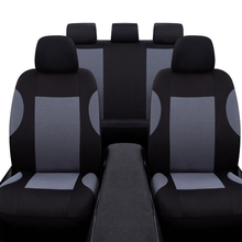 Universal 9 Pcs Gray Car Seat Covers Set Breathable Polyester for Auto Front Rear Seats Headrests Free Shipping cape psv rombo front gray 2 pcs 129090