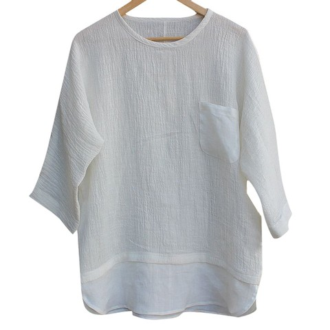 JAYCOSIN shirts Men summer Linen Patchwork blouses fitness Seven-Minute Sleeve Solid shirt Loose Blouse tops Tee streetwear 426 Islamabad
