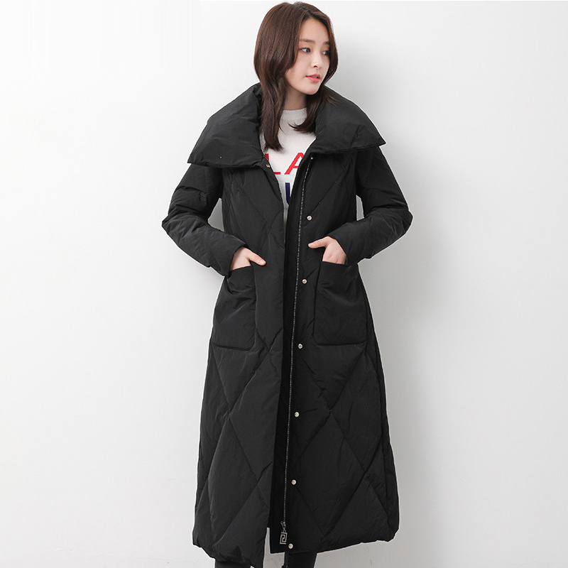 New Fashion Slim Long   Down   Parkas Women Thicken Warm   Down   Jacket 90% White Duck   Down   Jackets Female Casual   Down     Coats   YP2112