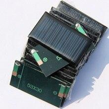 0.15 W 5 V Mini panneau solaire de cellules solaires pour chargeur de batterie 3.6 V bricolage solaire jouet panneau éducation Kits 53*30 MM 20 pcs/lot livraison gratuite
