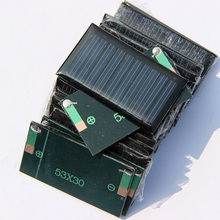 0.15W 5V Mini Solar Cell Solar Panel For 3.6V Battery Charger DIY Solar Toy Panel Education Kits 53*30MM 20pcs/lot Freeshipping