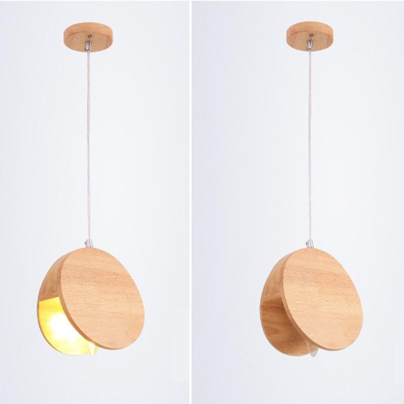 Vintage créatif en bois simple tête Suspension en métal bois Suspension luminaire suspendu pour café Bar salle à manger PL459