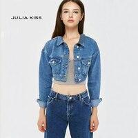 Women Casual Drop Shoulder Cropped Denim Jackets Short Outerwear