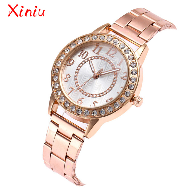 Watch Female Wrist Watches Women 2018 Zegarek Damski Watch Luxury Rose Gold Silver Stainless Steel Band Analog Quartz  Watch
