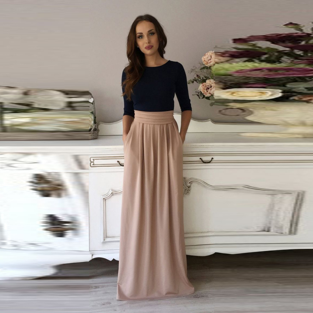 Online Get Cheap A Line Maxi Skirt with Pockets -Aliexpress.com ...