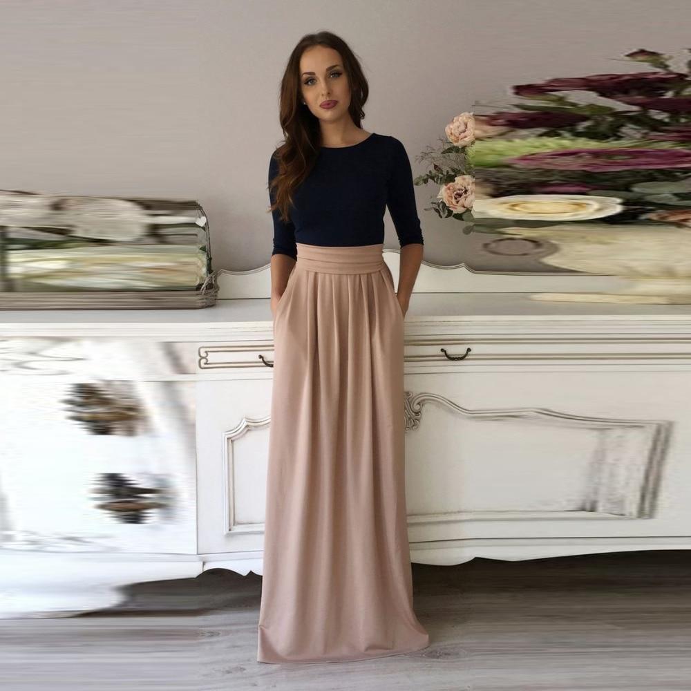 Lastest  Full Length Skirt Multi Color Thick Warm Skirtsin Skirts From Women39s