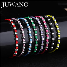Copper Beads Braiding Charm Bracelets&Bangles Adjustable Lucky Red String for Women Men Children Friendship Wish Couple Jewelry(China)