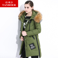 TANBOER women's down jackets long model fashion style duck down filling warm lady jackets winter jackets winter coats TB3690
