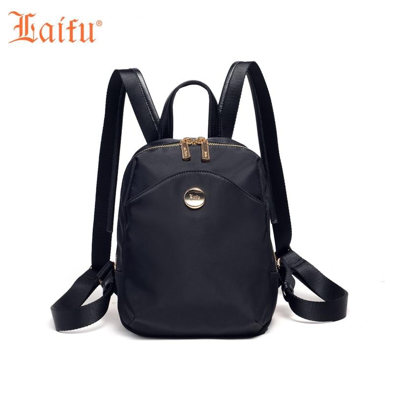 Laifu Fashion Woman Backpack Female School Bag for Adolescent Girls Cadual Daily Weekend Travel