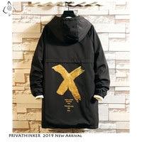 Privathinker Men Windbreaker Hooded Cargo Jacket Mens Autum Winter Pocket 5XL Jacket Male 2019 Casual Streetwear Jacket Coats
