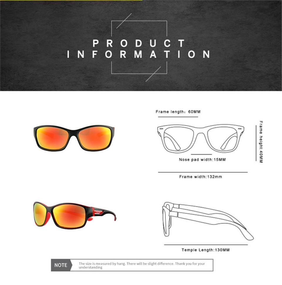 RILIXES 2018 Fashion Guy\'s Sun Glasses From Kdeam Polarized Sunglasses Men Classic Design All-Fit Mirror Sunglass (5)
