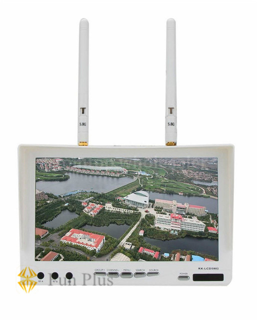 "Boscam FPV RX-LCD5802 5.8G 40CH HD 800*480p 7"" LCD Screen Monitor Receiver Black / White Built-in Battery"