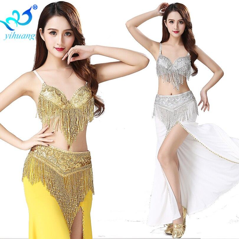 Adult size Burlesque Dance of the 7 Veils Costume Belly Dance Harem fnt