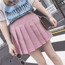 New Japan and South Korea High School Wild Wind White Pleated skirt Half Skirt Fashion Elegant Student Uniform(China)