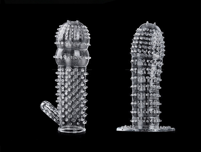 Silicone Reusable Condoms Time Delay Crystal Penis Rings Male Penis Extension Sleeves Cock Rings Adult Sex Toys for Men 5 Types17