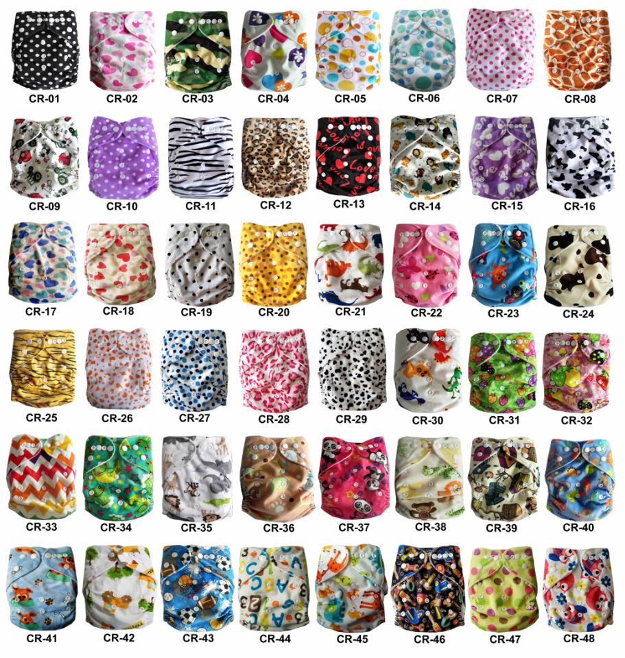 2018 Free Shipping New Cute Minky Cloth Diapers Baby Cloth Diaper With Microfiber Insert Eco Friendly