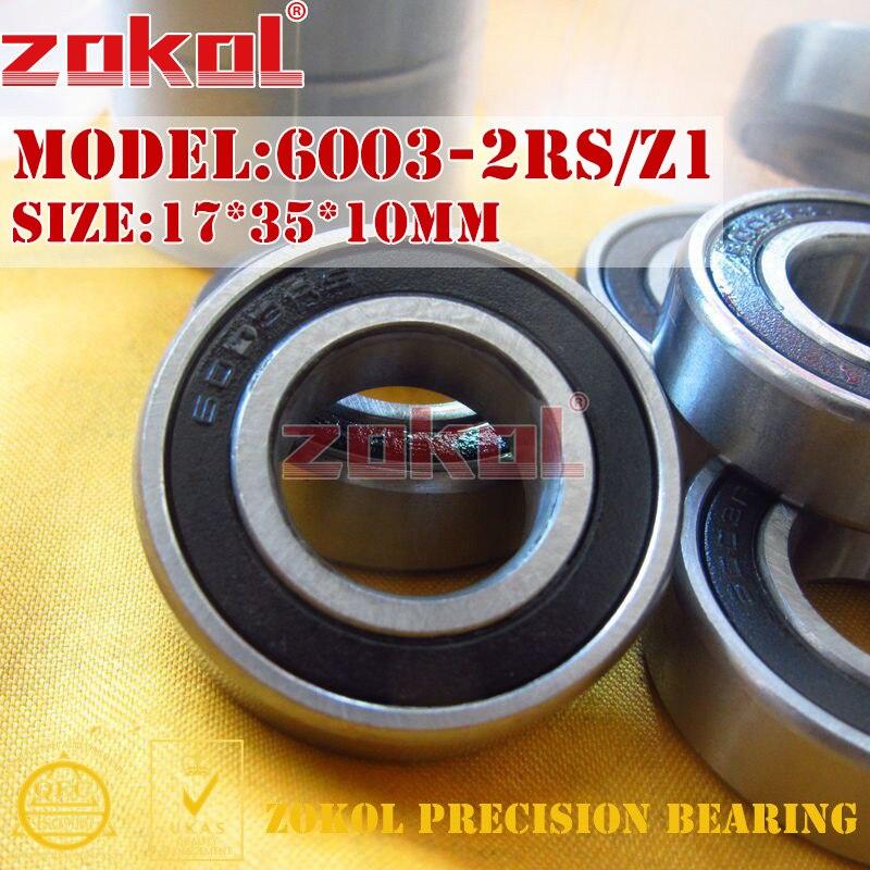 ZOKOL 6003 RS Z1 bearing 6003 RZ Z3V3 6003 ZZ S6003Z Deep Groove ball bearing 17*35*10mm