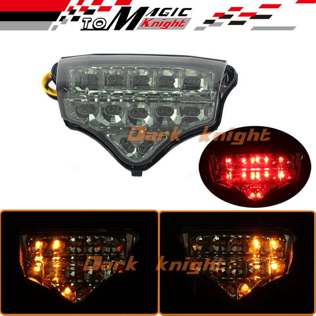 Para yamaha fz6 fazer 2004-2008 motorcycler led integrado tail light turn signal blinker fumaça