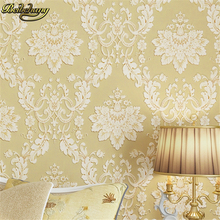 European Fashion woven Wallpaper Roll Flocking Glitter Damask Wall paper For Living room Bedroom Sofa TV Backdrop Gold R47 0 53 10 roll colorful brick wallpaper tv sofa backdrop mediterranean wall paper for bedroom living room home decoration