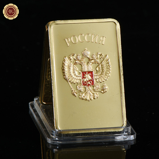 Wr 24k 999 9 Gold Bar Quality Usa Plated Fake Bars Souvenir Gifts Collectible Golden Metal