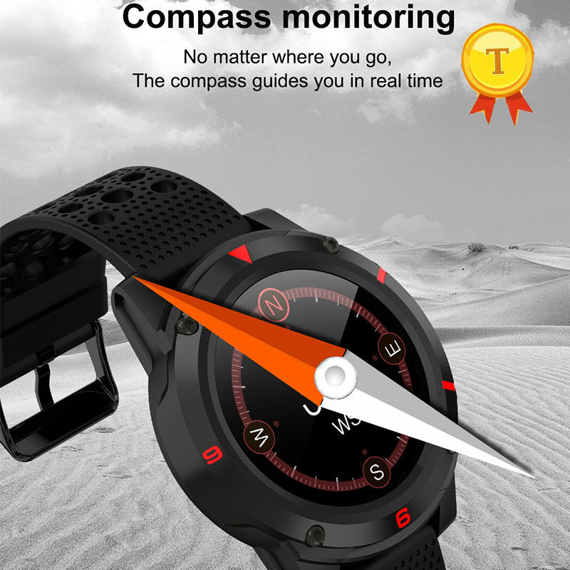 newest arrival color screen GPS Sports Waterproof Smart Watch with Heart Rate Blood Pressure Monitor altitude