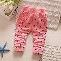 Fashion Casual Autumn Spring Baby Kids Children Girl Infants Dot Polka Bow Long Pants Full Length Trousers S3630