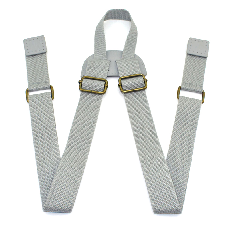 Durable Canvas Backpack Strap Adjustable Replacement Shoulder Rucksack School Book Bag Leather Belt Accessories KZ0339-1
