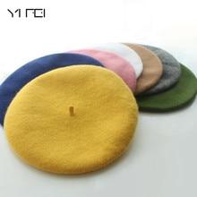 Beanie Hat Boinas Wool Vintage Winter Mujer Women Gorras 32colors-Cap Planas Hombre