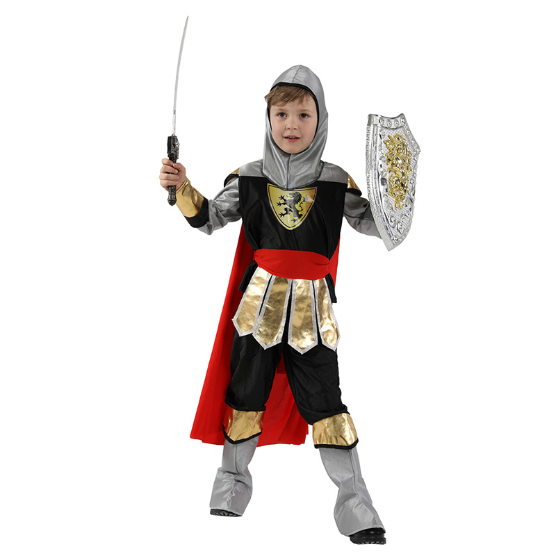 Halloween Party Kids Royal Warrior Knight Costumes Boys Soldier Children Medieval Roman Cosplay Carnival Fancy Dress