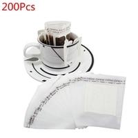 200 Pcs Portable Drip Coffee Powder Paper Filters Hanging Ear Drip Bag Filter
