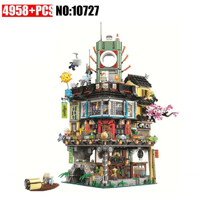 4953 шт. Новый Ninja великого творца городского строительства 10727 модель модульное здание Конструкторы подростков Игрушечные лошадки Кирпичи с