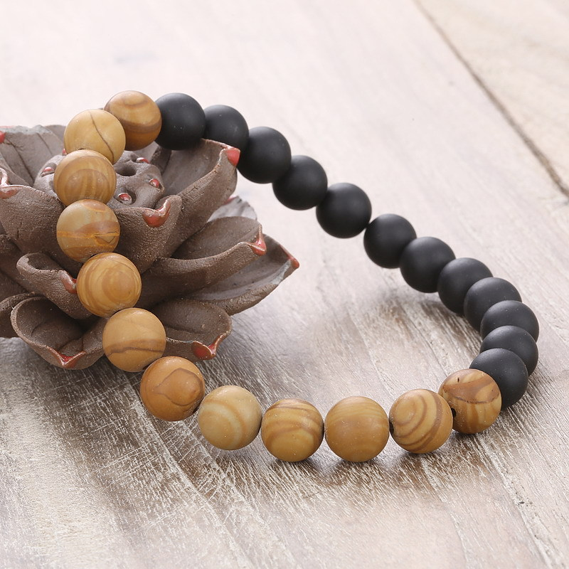 crystal bead bracelet taddeo swarovski zoom wooden greed men john black