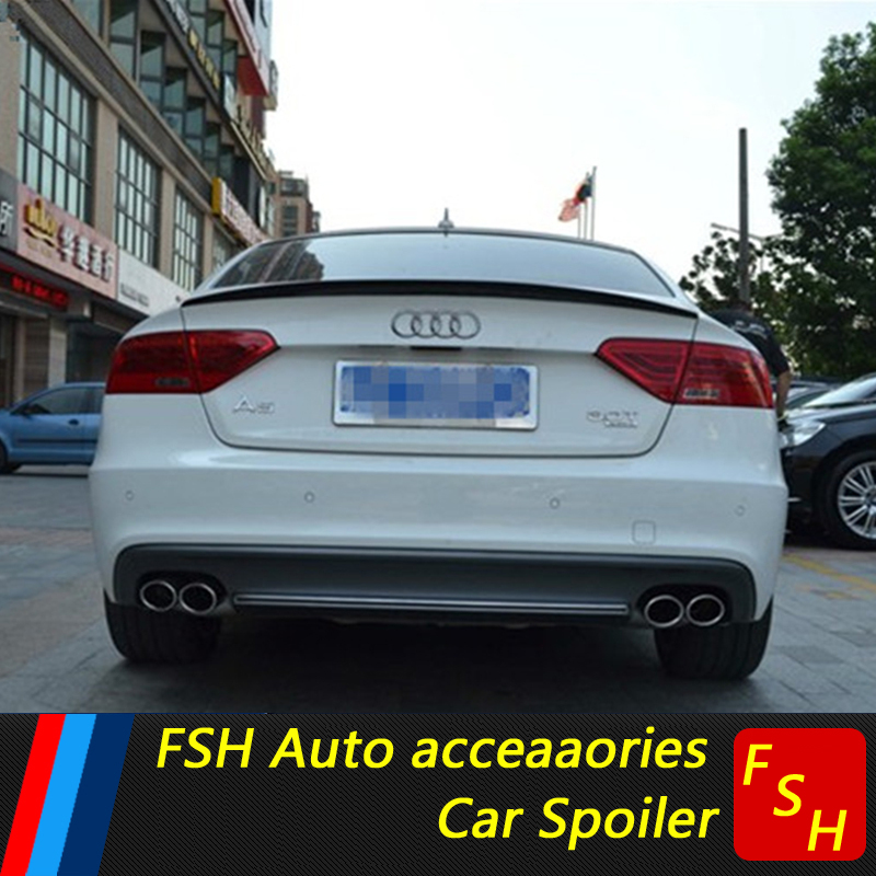 For Audi A5 Spoiler Audi S5 Spoiler Audi A5 ABS Material Car Rear Wing Primer Color Rear Spoiler For Audi A5 Spoiler 2014-2017
